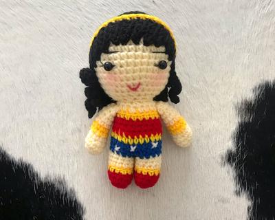 Little supergirl crochet doll thumb