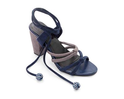 Blue and grey block heels serena thumb