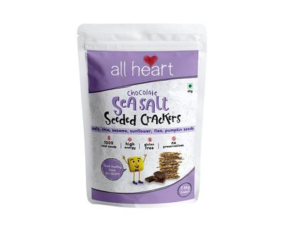 Dark chocolate and sea salt seeded crackers thumb