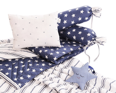 The luna collection twinkling star infant cot bedding set thumb