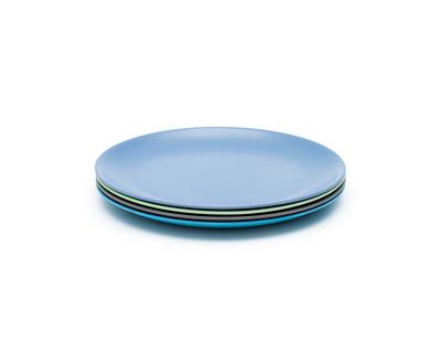 Coastal bamboo dinner plates set of 4 thumb