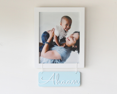 Personalized name frame blue thumb