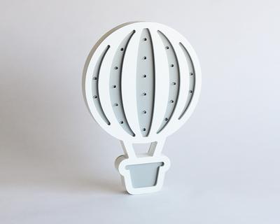 Hot air balloon light grey thumb