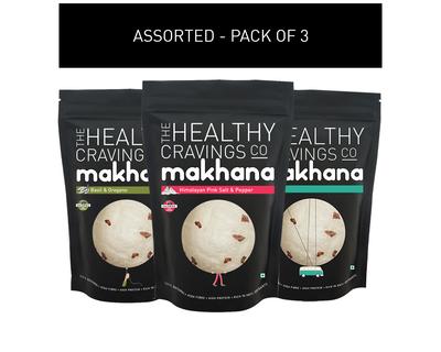 Assorted roasted makhana pack of 3 thumb