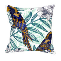 Fauna embroidered cushion cover small