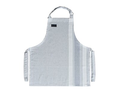 Stripes kids apron with chef s hat grey thumb
