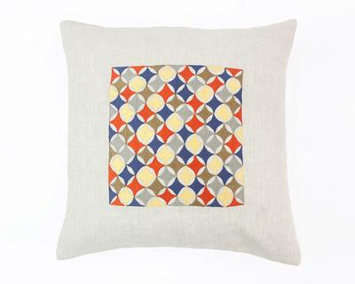 Mosaic white cushion cover thumb