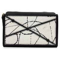Crossroad clutch snake print black small