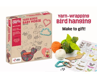 Yarn birds baby mobile thumb